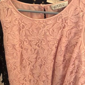 Pink lace sleeveless top